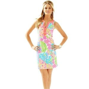 New Lilly Pulitzer Ryder Shift Dress Lovers Coral